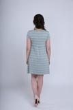 Платье для беременных и кормящих 08720 серый меланж/ментол