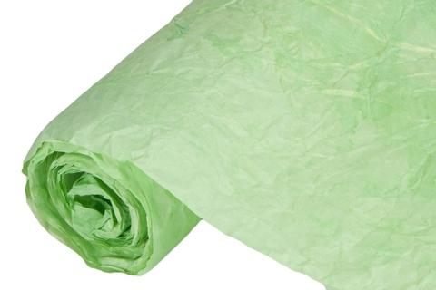 Бумага жатая эколюкс 70см х 5м  ярко-зеленая/золото 16G