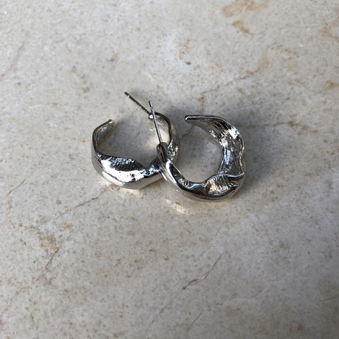 Серьги Пилана, серебряный цвет