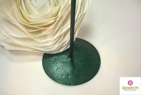 Стойка металлическая, Зелёная,1 штырь диаметр 25см