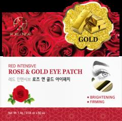 HANIxHANI Гидрогелевые патчи для глаз с экстрактом розы и коллоидным золотом Red Intensive Rose & Gold Eye Patch  60шт