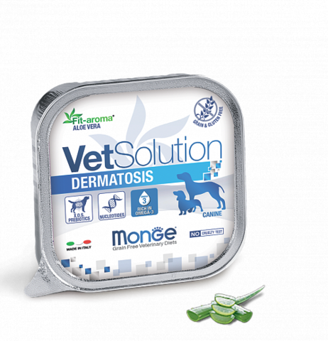 MONGE VETSOLUTION DERMATOSIS консервы для собак 0,15кг