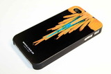 Чехол Marcelo Burlon iPhone 4, 4s (Orange tail)