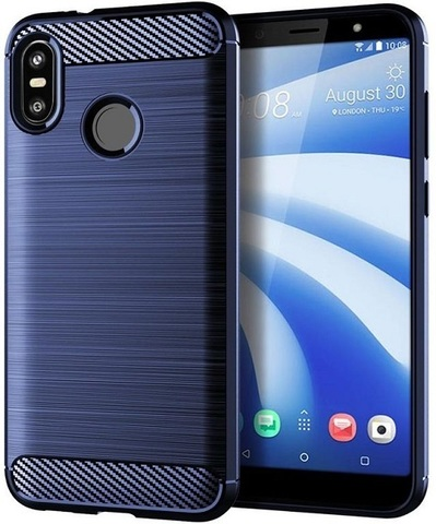 Чехол для HTC U12 Life цвет Blue (синий), серия Carbon от Caseport