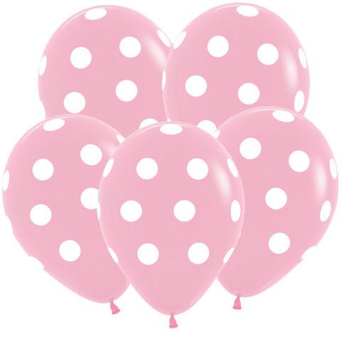 S 12'' Большие кружки, Розовый (009), Пастель, 5 ст.