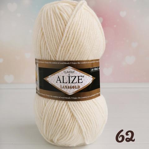 ALIZE LANAGOLD 62, Молочный