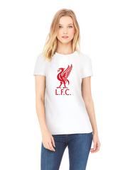 Футболка с принтом FC Liverpool (ФК Ливерпуль) белая w003