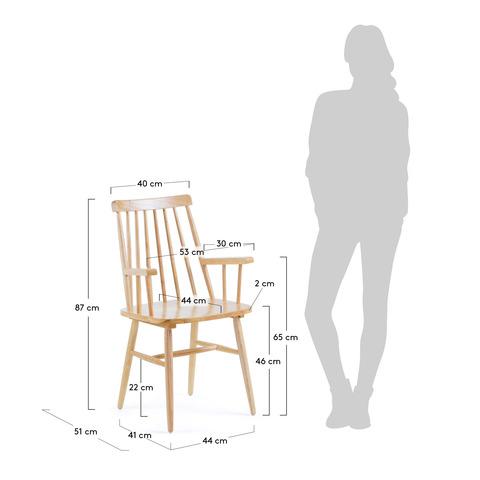 Кресло Kristie натуральное дерево