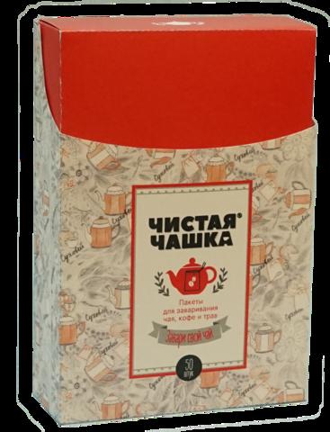 Фильтр-пакеты Чистая Чашка (50шт) фильтр-волокно, с завязками, для чайника