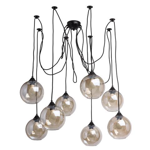 Люстра Паук 8 ламп Фьюжен