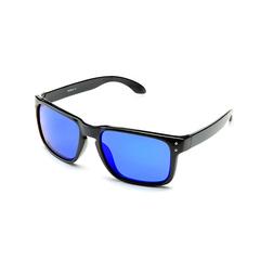 Очки солнцезащитные 2K S-14009-E (чёрный глянец / синий revo)