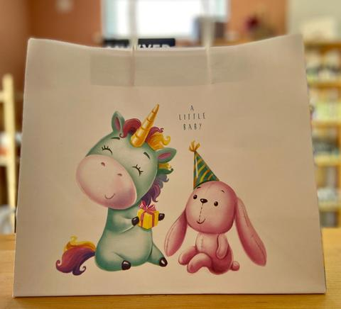 Пакет подарочный крафт Малыши, 32×28×15см