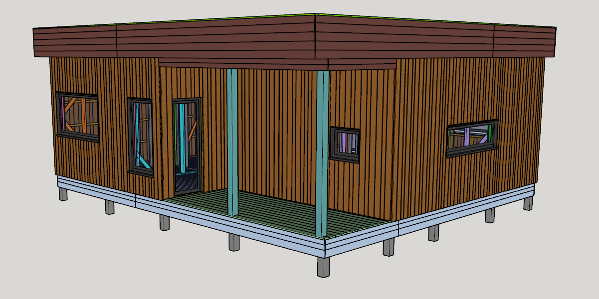 3d модель SketchUp ScoutDacha 50+25