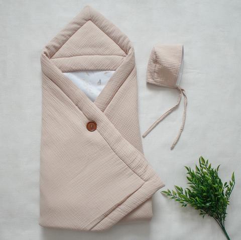 Одеяло из муслина, бежевый