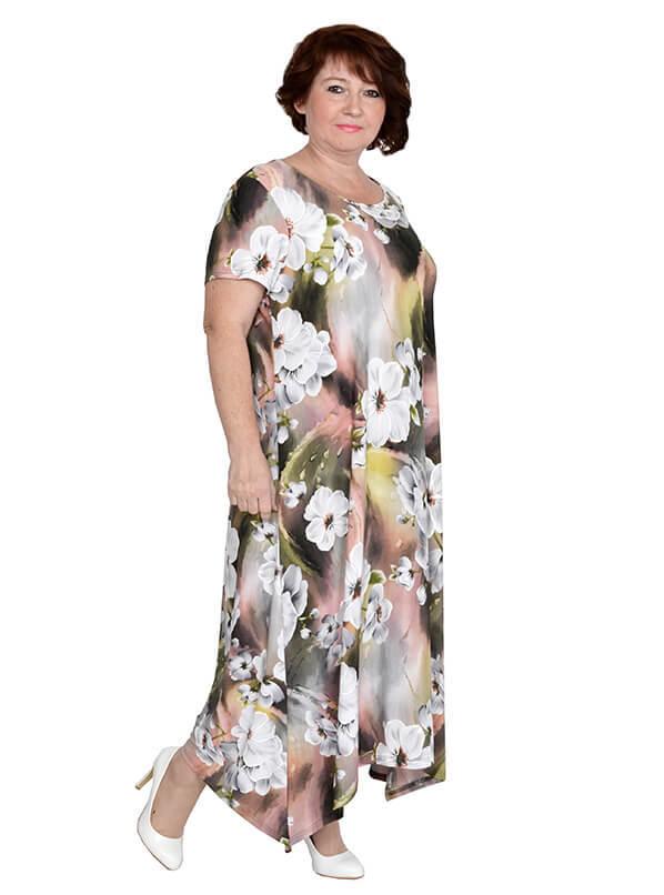 Платье Аврора, белые цветы