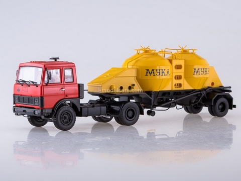 MAZ-5432 (red) and semitrailer K4-AMG 1:43 AutoHistory
