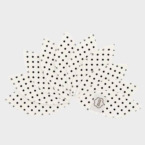 Многоразовые прокладки интимной зоны, 10 шт., Black Dots