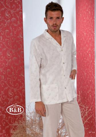 Роскошная мужская пижама из натурального льна