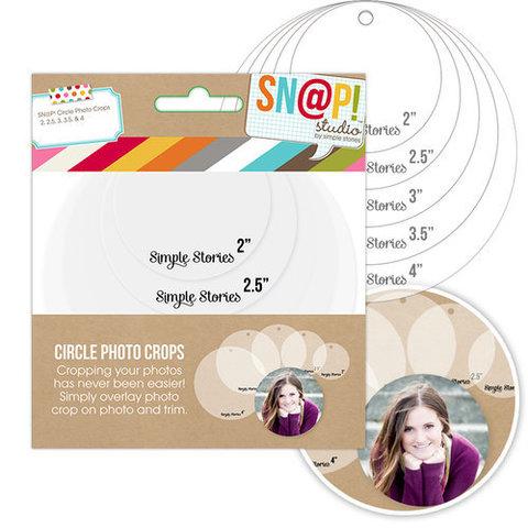 Лекала для фотографий  круглой формы - Simple Stories Sn@p! Photo Crops 5шт. - Circle