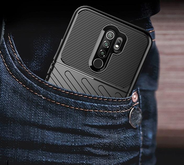 Ударопрочный защитный чехол на Xiaomi Redmi 9, серия Onyx от Caseport