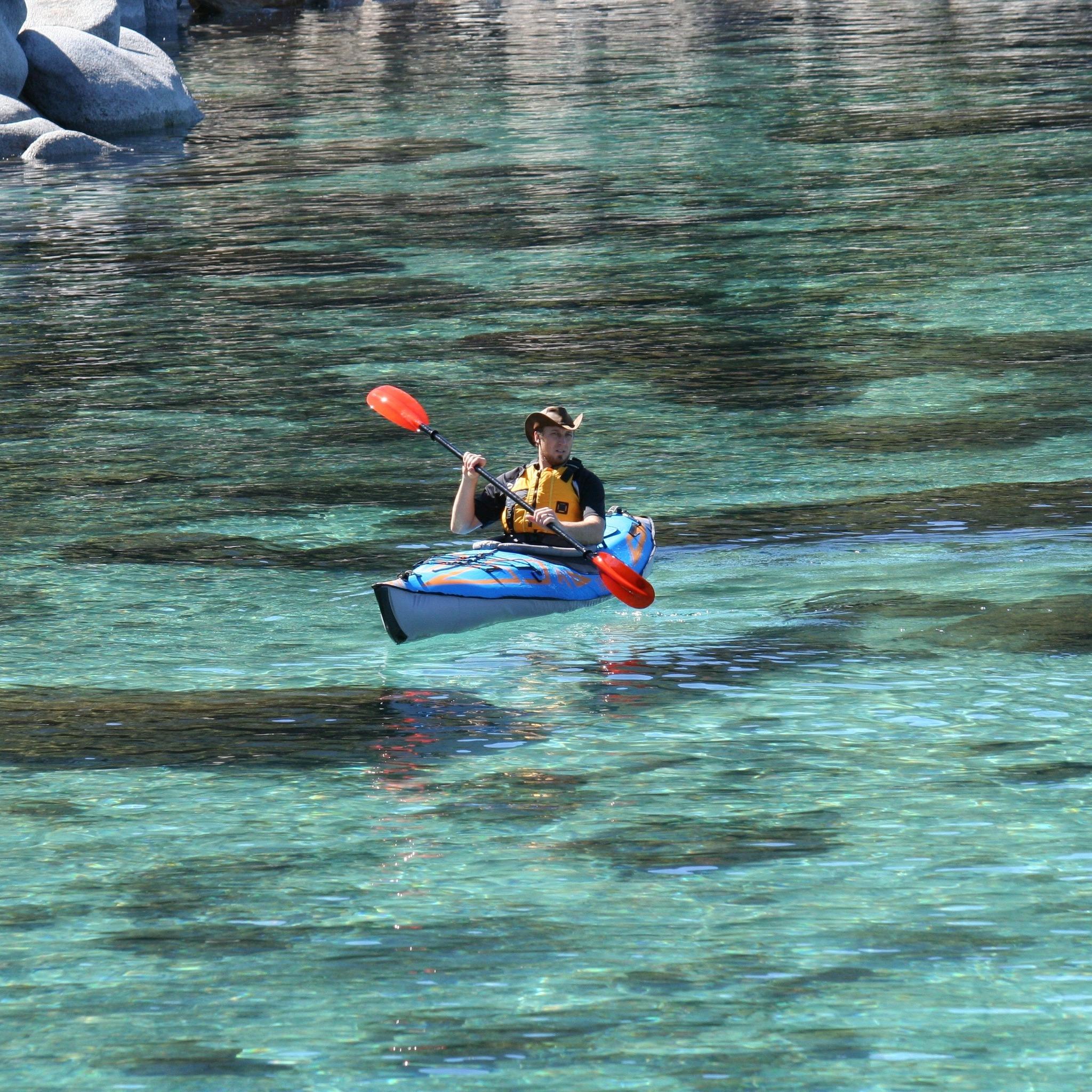 Expedition Elite inflatable kayak, single
