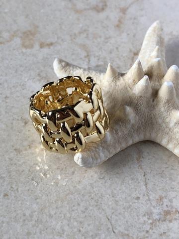 Кольцо Филамент, позолота