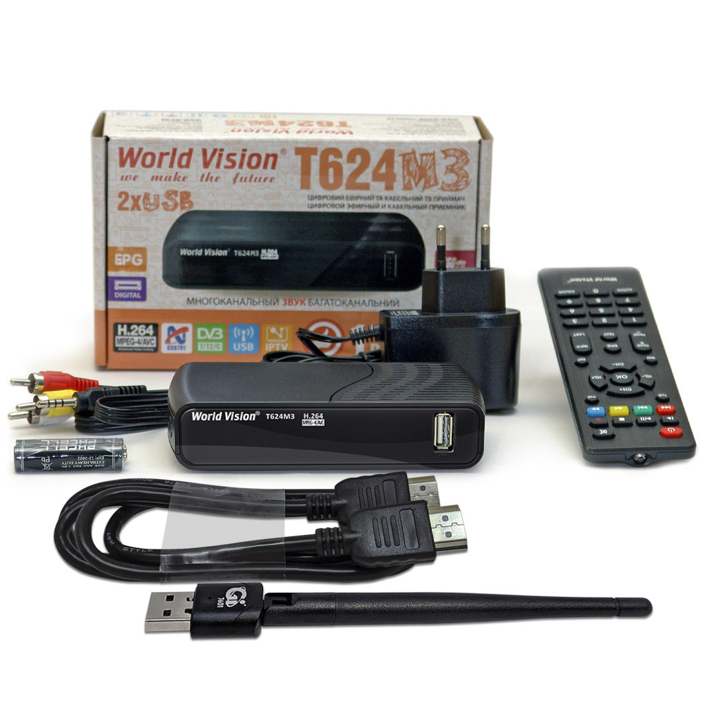 World Vision T624M3 + USB Wi-Fi + HDMI