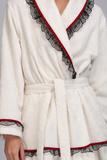 Махровый халат с кружевом Luna di Giorno