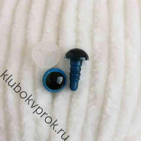 Глаза пластиковые с фиксатором 8 мм, 1 пара, голубые