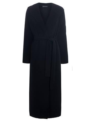 Женский кардиган черного цвета из вискозы - фото 1