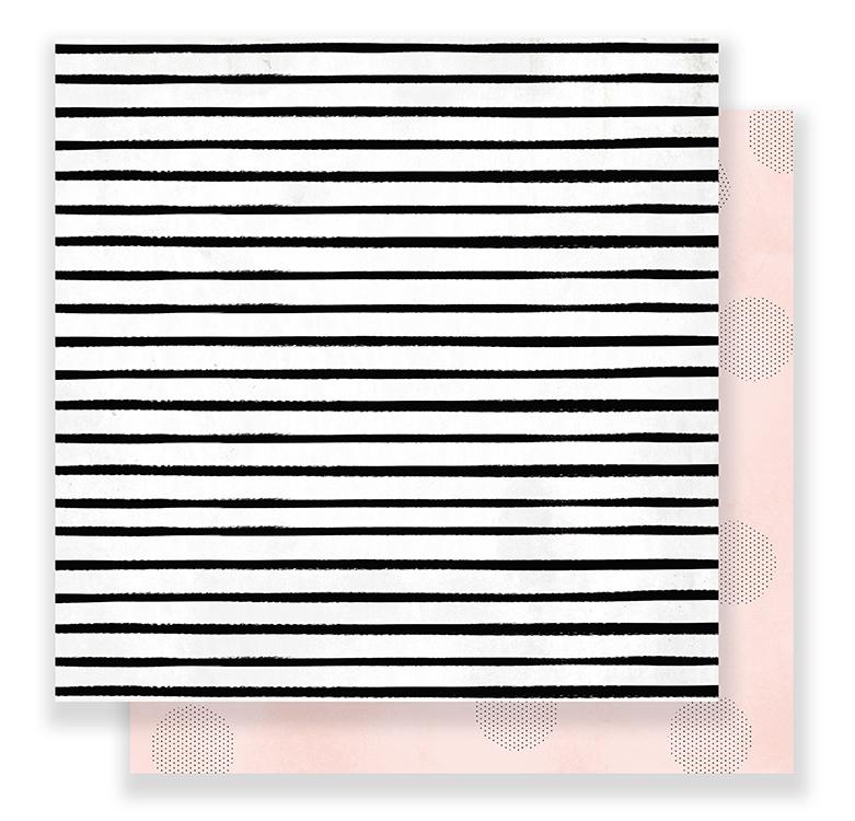 Лист двусторонней бумаги  C'est La Vie Pink Paislee 30х30см
