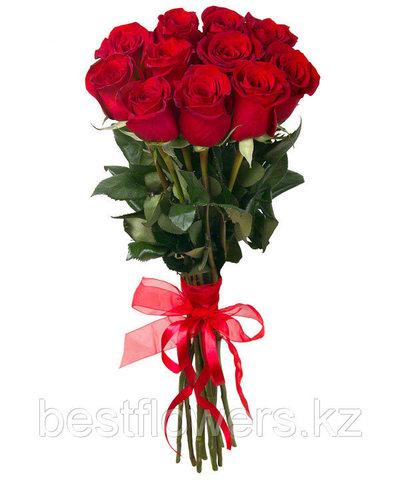 Букет из 11 Голландских красных метровых роз