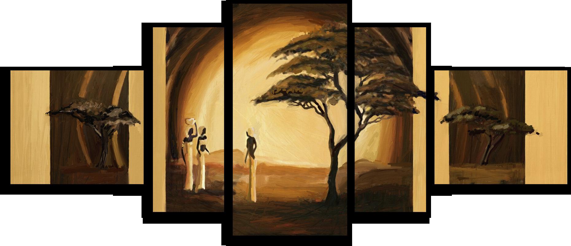 "Природа Модульная картина ""Золотистая Африка"" М480.png"