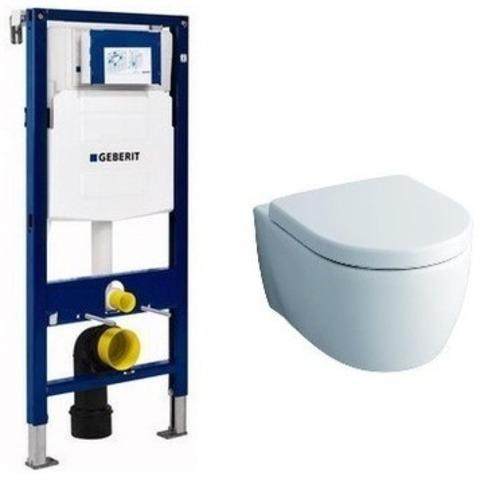 Комплект инсталляция и унитаз подвесной GEBERIT Duofix KERAMAG (111.300.00.5-20406)