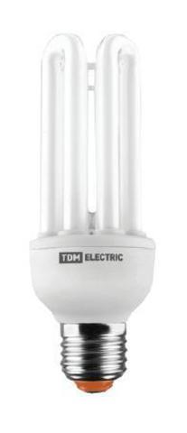 Лампа энергосберегающая КЛЛ-4U-45 Вт-2700 К–Е27 (72х235 мм) TDM