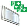 Светильник аварийный эвакуационный с аккумулятором Formula 65 LED Li-Fe можно использовать ка световой указатель с эвакуационными пиктограммами