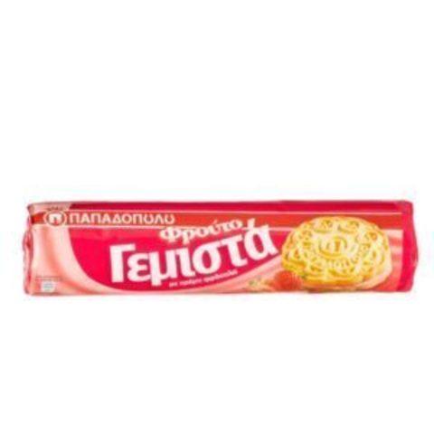 Печенье PAPADOPOULOS клубника 200 гр