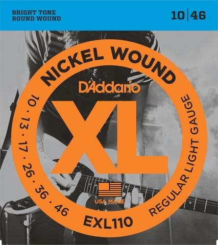 D`ADDARIO EXL110 NICKEL WOUND REGULAR LIGHT 10-46