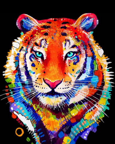 Алмазная Мозаика 20x30 Радужный тигр (арт. MTCH8246)