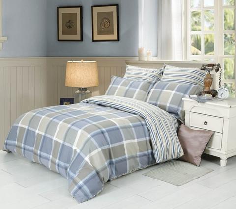Сатиновое постельное бельё  1,5 спальное Сайлид  В-190