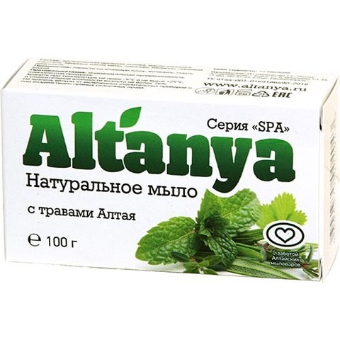 Натуральное мыло с травами Алтая, 100 г