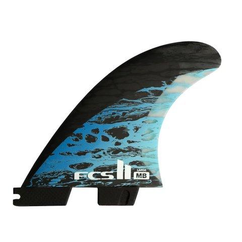FCS II MB PC Carbon Tri Retail Fins Blue Large
