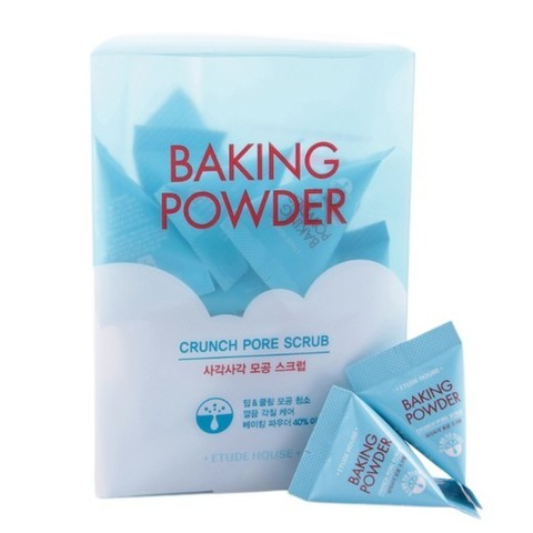 Etude House Baking Powder Crunch Pore Scrub, Скраб для лица с содой в пирамидках  7 гр