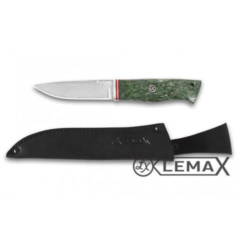 Нож Засапожный, булат, стабилизированная карельская берёза