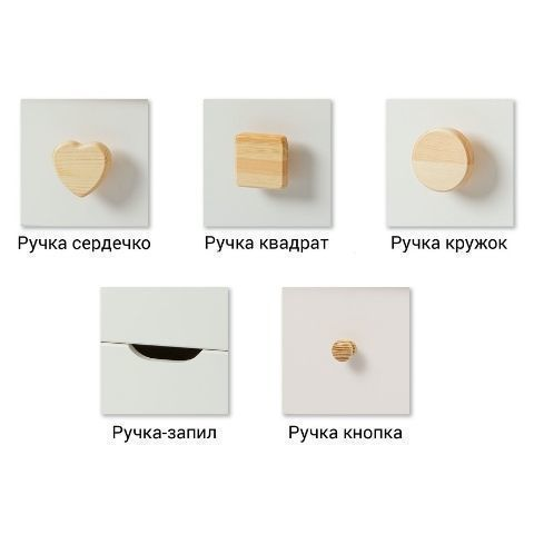 Ручки коллекции мебели Кидс