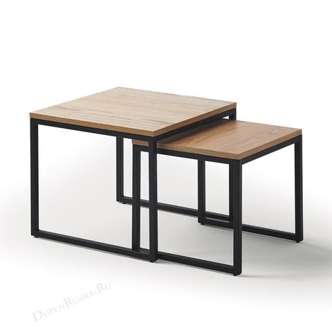 Набор из двух квадратных столиков CT-907 Дуб