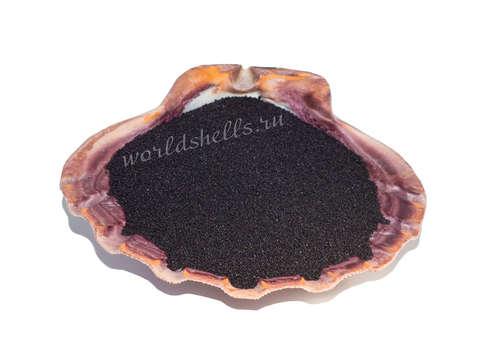 Черный кварцевый песок 1 кг.