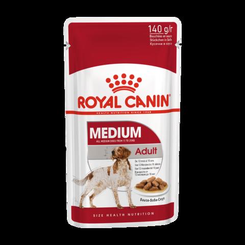 Royal Canin Medium Adult Консервы для собак средних пород кусочки в соусе (Пауч)