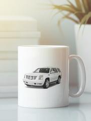 Кружка с рисунком Кадиллак (Cadillac) белая 006