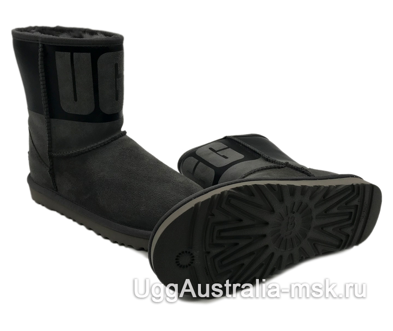 UGG Classic Short Rubber Boot Grey/Black